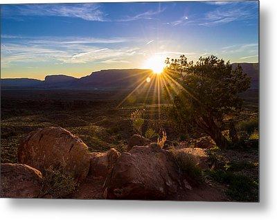 Utah Desert Sunset Metal Print by Michael J Bauer
