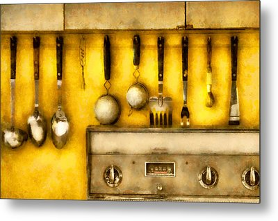 Utensils - The Kitchen  Metal Print by Mike Savad