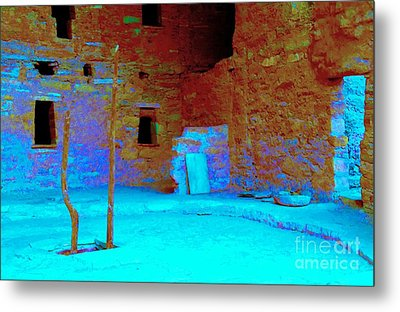 Vacancy At Spruce Tree House Metal Print by Ann Johndro-Collins