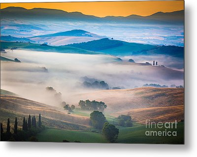 Val D'orcia Enchantment Metal Print by Inge Johnsson