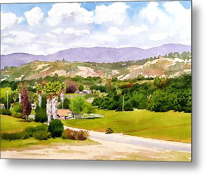 Valley Center California Metal Print by Mary Helmreich