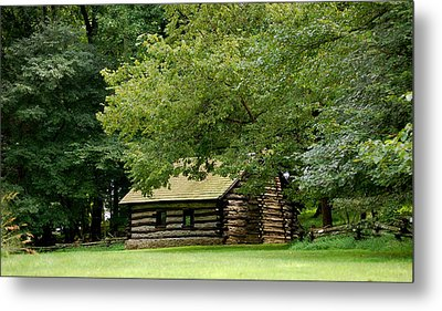 Valley Forge Cabin Metal Print by Sherlyn Morefield Gregg