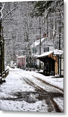 Valley Green In Winter Along Forbidden Drive Metal Print by Bill Cannon
