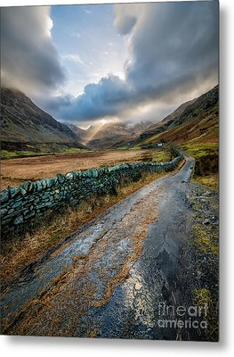 Valley Sunlight Metal Print by Adrian Evans