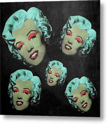 Vampire Marilyn 5a Metal Print by Filippo B