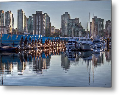 Vancouver Boat Reflections Metal Print by Eti Reid