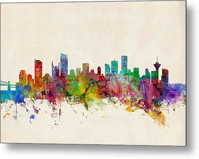 Vancouver Canada Skyline Metal Print by Michael Tompsett