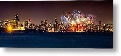 Vancouver Celebration Of Light Fireworks 2013 - Day 2 Metal Print by Alexis Birkill