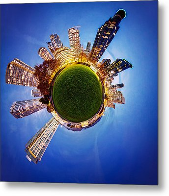 Vancouver Little Planet Metal Print by Alexis Birkill