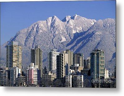 Vancouver Skyline West End Metal Print by Kevin Miller