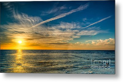 Vapor Trail Metal Print by Adrian Evans
