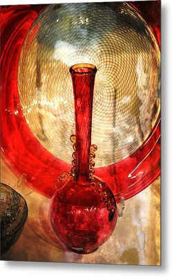 Vase And Tree Metal Print by Marty Koch