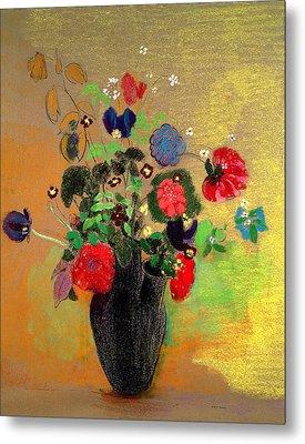 Vase Of Flowers Metal Print by Odilon Redon