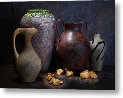 Vases And Urns Still Life Metal Print by Tom Mc Nemar