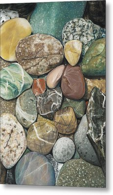 Vashon Island Beach Rocks Metal Print by Nick Payne