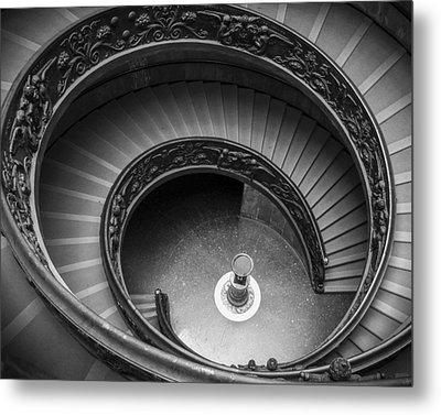 Vatican Stairs Metal Print by Adam Romanowicz