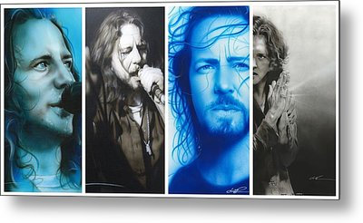 Eddie Vedder - ' Vedder Mosaic I ' Metal Print by Christian Chapman Art