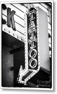 Vegas Tattoo Metal Print by John Rizzuto