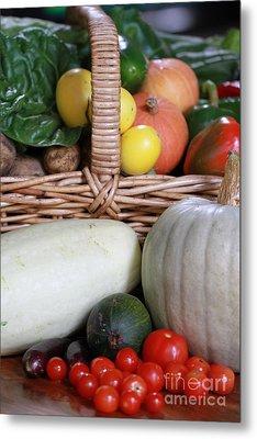 Vegetable Basket Metal Print by Kelly Jones
