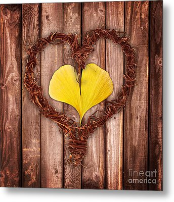 Vegetal Hearts Metal Print by Delphimages Photo Creations
