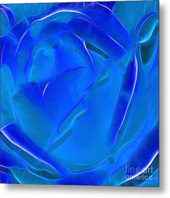 Veil Of Blue Metal Print by Kaye Menner