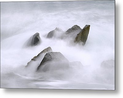Velvet Surf Metal Print by Marty Saccone