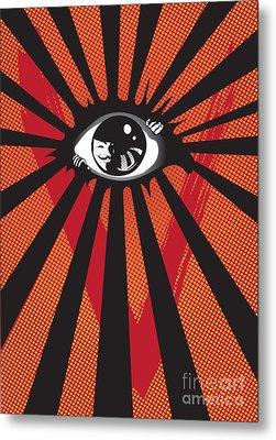 Vendetta2 Eyeball Metal Print by Sassan Filsoof