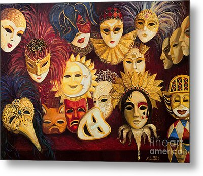 Venetian Masks Metal Print by Kiril Stanchev