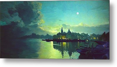 Venetian Twilight Metal Print by Paul Tagliamonte