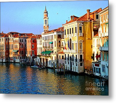 Venezia Grand Canal Metal Print by Phillip Allen