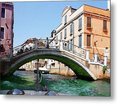 Venice Bridge Metal Print by Irina Sztukowski
