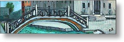 Venice Bridge Metal Print by Rita Brown