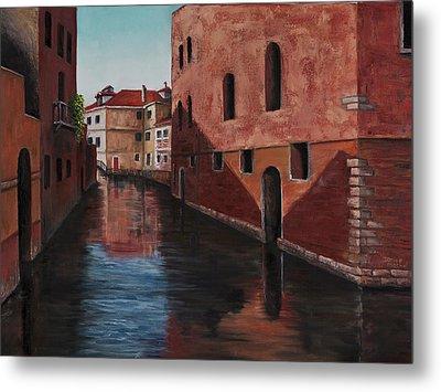 Venice Canal Metal Print by Darice Machel McGuire