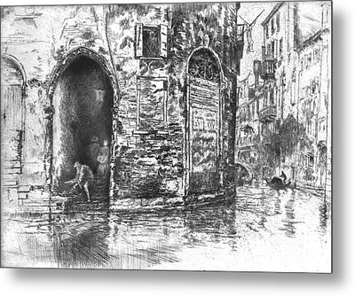 Venice Doorways 1880 Metal Print by Padre Art