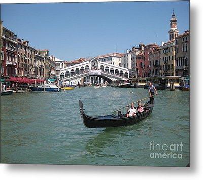 Venice Gondolier Metal Print by John Malone
