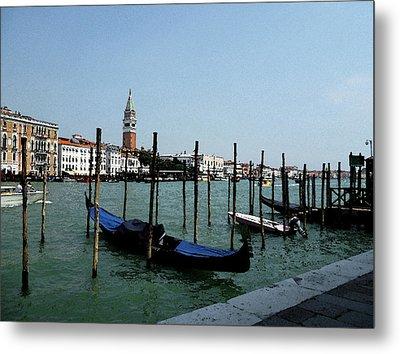 Venice Italy Gondola View On Doge Palace Metal Print by Irina Sztukowski