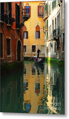 Venice Reflections Metal Print by Bob Christopher