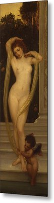 Venus And Cupid Metal Print by Frederic Leighton