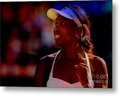 Venus Williams Metal Print by Marvin Blaine