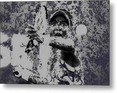 Venus Williams Paint Splatter 2e Metal Print by Brian Reaves