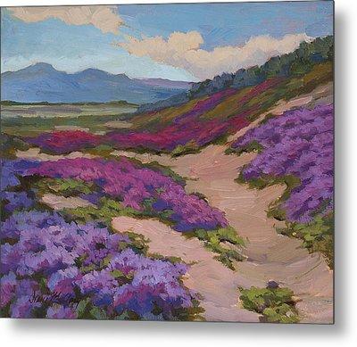 Verbena Harmony In Purple Metal Print by Diane McClary