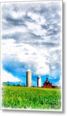Vermont Farm Scape Metal Print by Edward Fielding