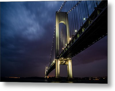 Verrazano-narrows Bridge Metal Print by Johnny Lam