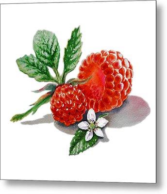 Artz Vitamins A Very Happy Raspberry Metal Print by Irina Sztukowski