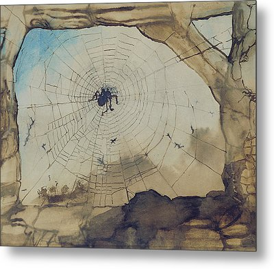 Vianden Through A Spider's Web Metal Print by Victor Hugo