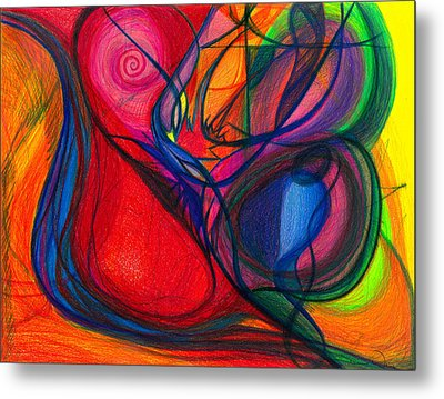 Vibrational Heart Healing - Sounds Of Radiant Joy, Purity Of Heart, Soul, Mind And Body Aligned Metal Print by Daina White