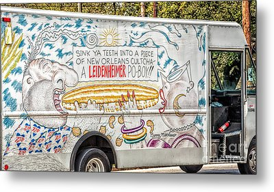 Vic And Nat'ly And The Leidenheimer Po-boy Truck - New Orleans Metal Print by Kathleen K Parker