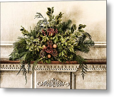 Victorian Christmas Metal Print by Olivier Le Queinec