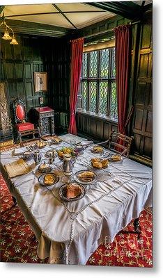 Victorian Dining Metal Print by Adrian Evans
