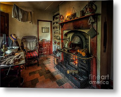 Victorian Fire Place Metal Print by Adrian Evans
